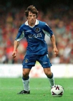 Gianfranco Zola vestiu a mítica camisa 25 no Chelsea entre 1993 e 2006. Ninguém mais utilizou a numeração depois de sua aposentadoria