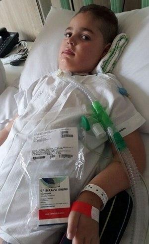 Gianlucca recebeu a primeira dose na última sexta-feira (9)