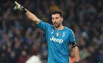 Gianluigu Buffon (43  anos) - Posição: goleiro - Clube atual: Juventus - Valor atual: um milhão de euros.