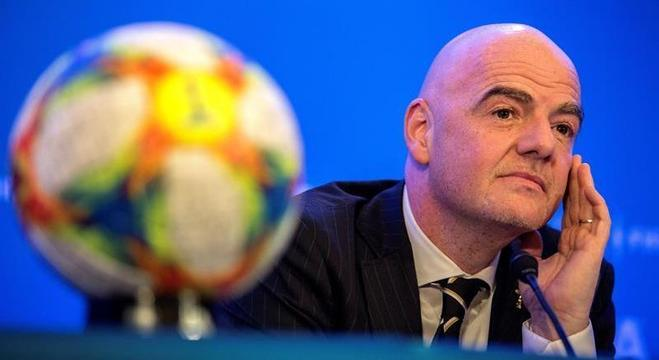 O presidente da Fifa, Gianni Infantino, que defende a Copa com 48 países