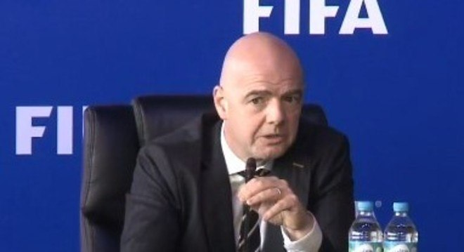 Gianni Infantino confirmou o uso do árbitro de vídeo na Copa do Mundo de 2018