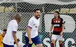 16º colocado – Bahia (37 pontos) – 35 jogos / 0,00% de chances de título; 0,00% para vaga na Libertadores (G6); 41,62% de chance de rebaixamento