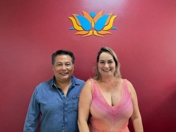 DIA DOS NAMORADOS: Gilsa dos Santos e André Ikenaga, da Rede Budha Spa, casal divide a vida a dois e os negócios