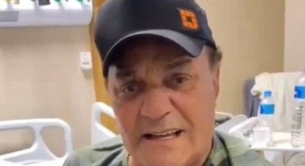 Gino tem 75 anos e está internado em São Paulo