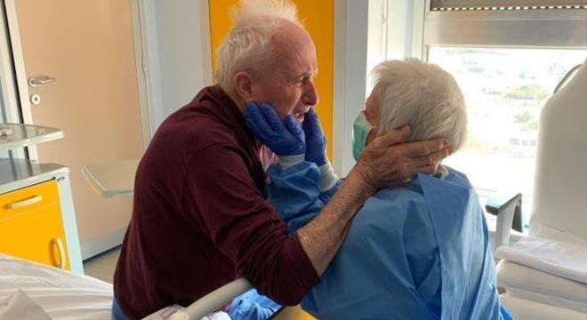Giorgio e Rosa se reencontraram após alguns dias separados por causa da covid-19