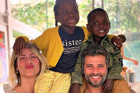 Giovanna, Bruno e os filhos Titi e Bless