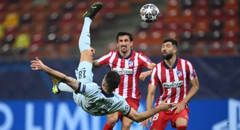 A bicicleta decisiva de Giroud, Atlético de Madrid 0 X 1 Chelsea