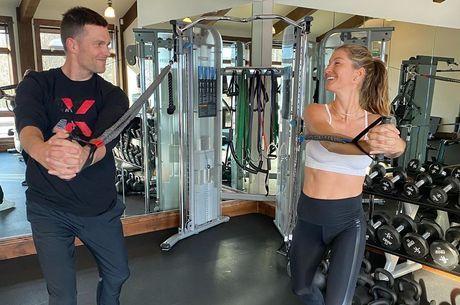 Brady e Gisele têm rotina de exercícios regrada