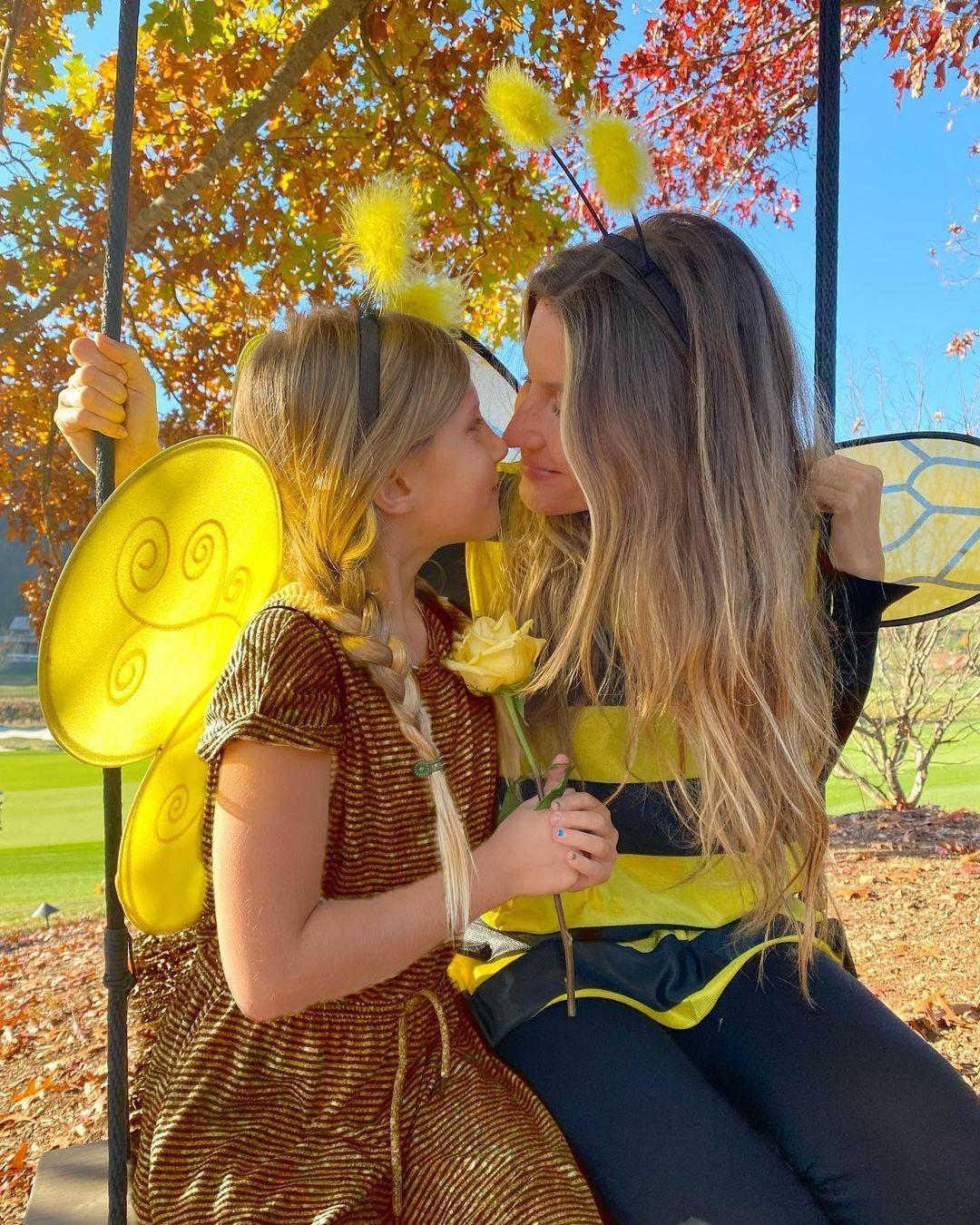 Gisele postou foto ao lado da filha e com mensagem ecológica