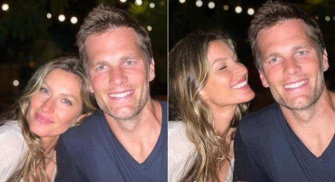 Top posou com Tom Brady e fez declaração com música romântica