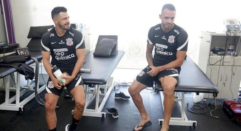 Giuliano e Renato Augusto seguem treinando muito forte. Sabem de sua importância no elenco