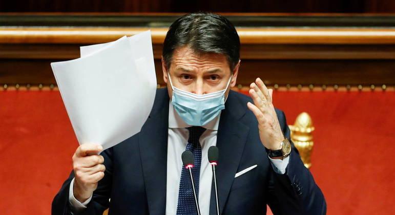 Giuseppe Conte renunciou ao cargo de primeiro-ministro em meio à pandemia de covid-19 na Itália