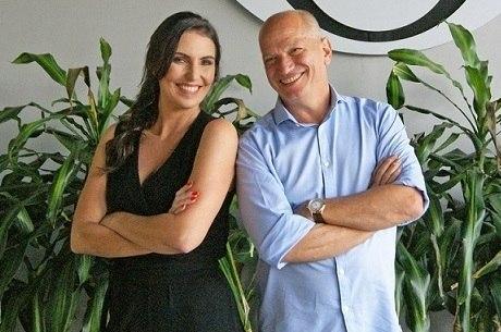 """Glenda Kozlowski e Elia Jr., apresentadores do """"Show do Esporte"""" na Band"""