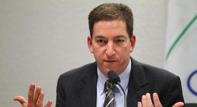 "O jornalista Glenn Greewald, do site ""The Intercept Brasil"""