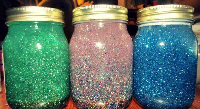 Glitter no vidro