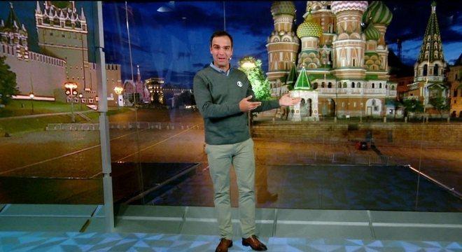 Sem acesso aos  jogadores, a Globo fez turismo na Rússia