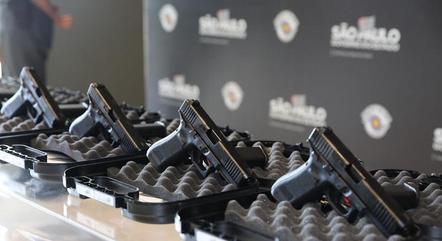 Armas Glock compradas pela PM de São Paulo