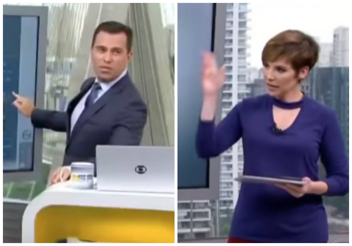 Bocardi corta Gloria Vanique e causa climão ao vivo na Globo
