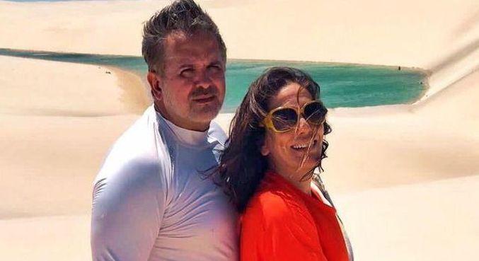 Gloria Pires e Orlando Morais em foto antiga divulgada pela atriz