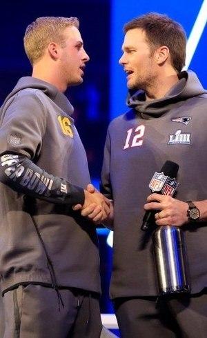 Goff e Brady são estrelas da festa
