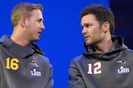 Goff e Brady lideram Rams e Patriots no Super Bowl