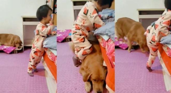 Niuniu deu uma força para a garota na hora de dormir
