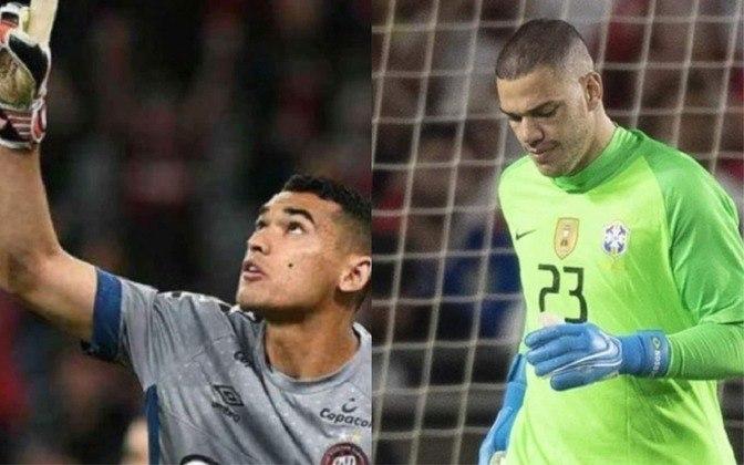 Goleiro: Santos (atualmente no Athletico-PR) x Ederson (atualmente no Manchester City)