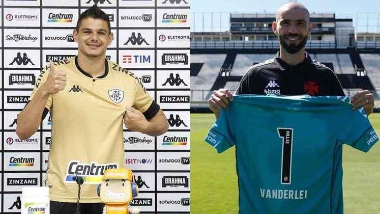 GOLEIROS: O Vasco contratou Vanderlei, e o Botafogo contratou Douglas Borges.