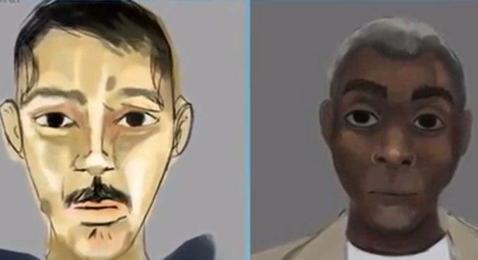 Vítimas tiveram retratos falados divulgados, pois não tinham documentos e digitais foram tiradas