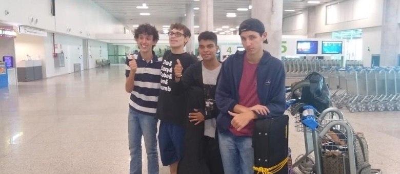 João Daniel (à esq.), João Henrique, Marcelo e Daniel formam a Good Time