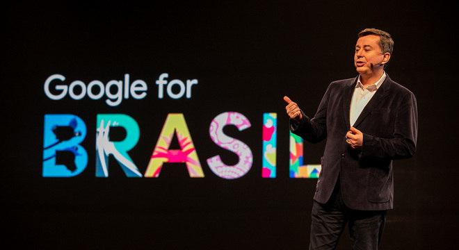 Presidente do Google, Fabio Coelho, durante o Google For Brasil
