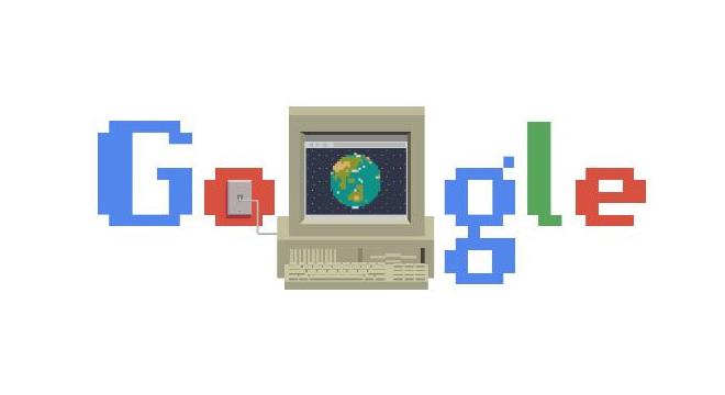 Página inicial do Google em homenagem aos 30 anos da World Wide Web