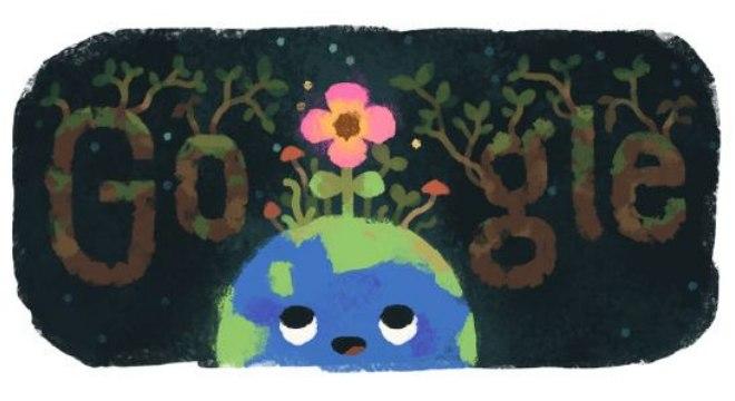 Doodle de primavera é exibido aos usuários do Google no hemisfério sul