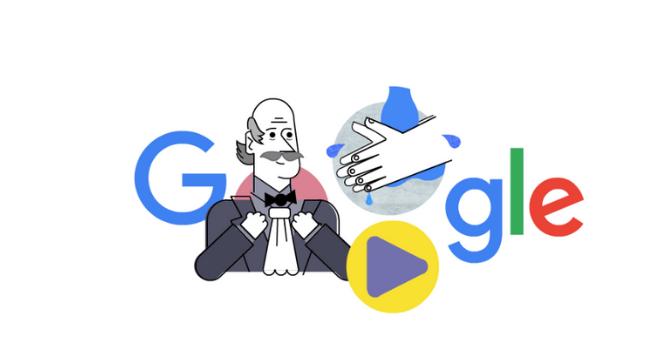 Doodle homenageia o médico húngaro Ignaz Semmelweis
