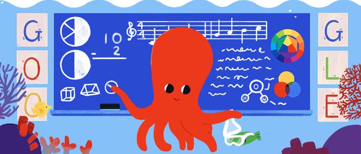 Google presta homenagem ao Dia dos Professores com Doodle na página inicial