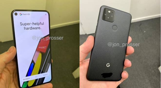 Imagens do novo Pixel 5 vazaram horas antes do lançamento