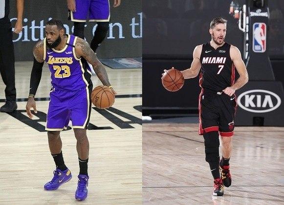 Goran Dragic (Heat) x LeBron James (Lakers) -  (Armador)  Nesse confronto, temos dois jogadores completamente distintos em características de jogo e que não devem marcar um ao outro na série. Porém, ambos têm uma função em comum: Armar o time. LeBron James é o maior jogador de basquete da atualidade e chega a sua décima final na carreira. Para se ter uma ideia da grandeza do astro, o Heat possui, em toda a sua história, seis aparições em finais. Já Dragic vem sendo o cérebro do time de Miami nos playoffs e, em muitos jogos, ainda tem sido o principal destaque da equipe, sendo o cestinha com 20.9 pontos de média por partida na pós-temporada.