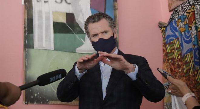 Gavin Newsom pediu o apoio da população da Califórnia na luta contra a covid