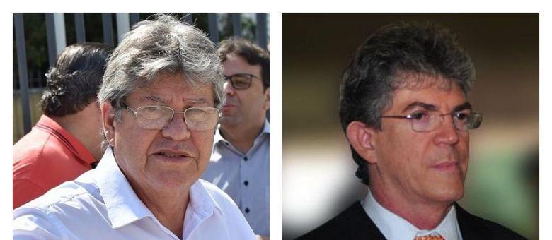 João Azevêdo (E) e Ricardo Coutinho (D) são acusados de desvios de recursos
