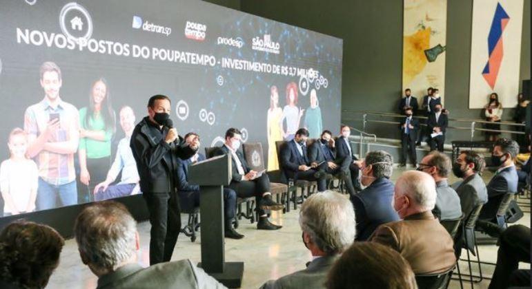Governador João Doria a abertura de 20 novas unidades do Poupatempo no estado