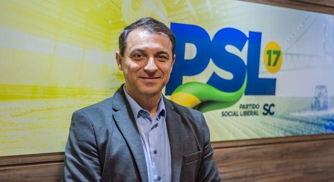 Oo governador de Santa Catarina, Carlos Moisés (PSL)