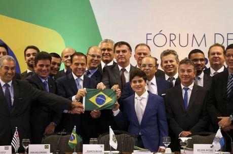 Governadores em encontro com o presidente Bolsonaro