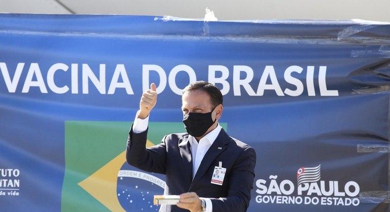 Doria se apoia na vacina do Butantan para pavimentar candidatura ao Planalto em 2022