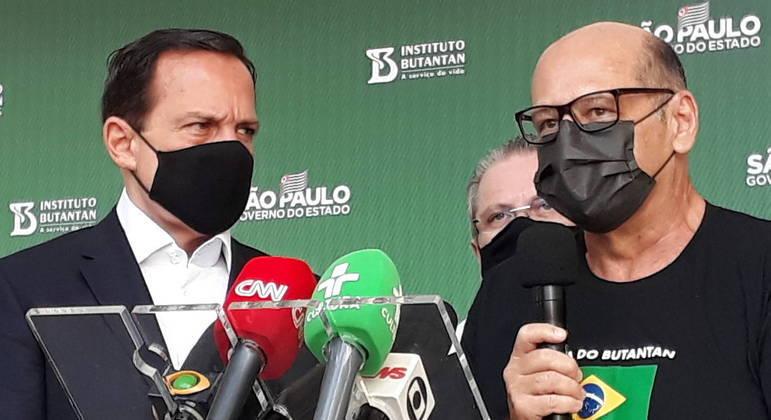 Governador João Doria visita o Instituto Butantan.  Foto Governo do Estado de São Paulo