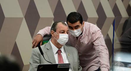 Senador Omar Aziz com o deputado Luis Miranda