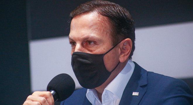 Governador João Doria anunciou início do calendário de vacinação