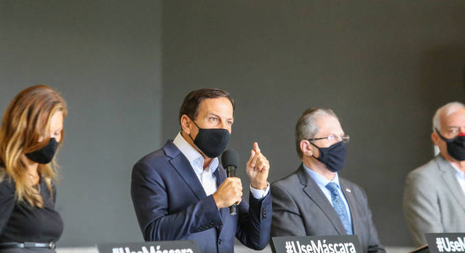 Governador João Doria na coletiva de imprensa desta quarta (3)