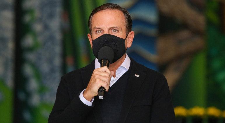 Doria afirmou que ideia  do presidente de liberar uso de máscara é 'ato de irresponsabilidade'