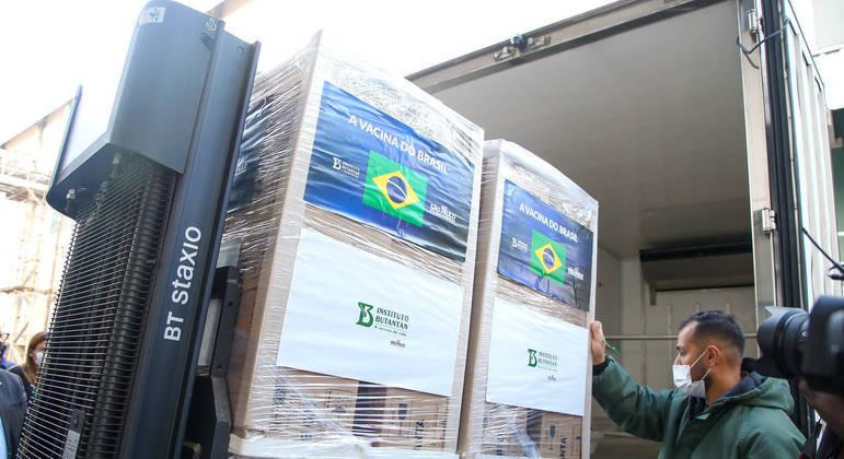 Instituto Butantan liberou novas doses da CoronaVac ao Ministério da Saúde