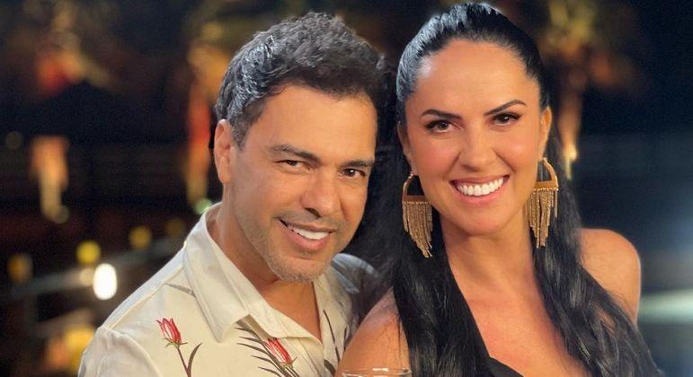 Graciele Lacerda posta foto com Zezé Di Camargo após reclamação de Zilu